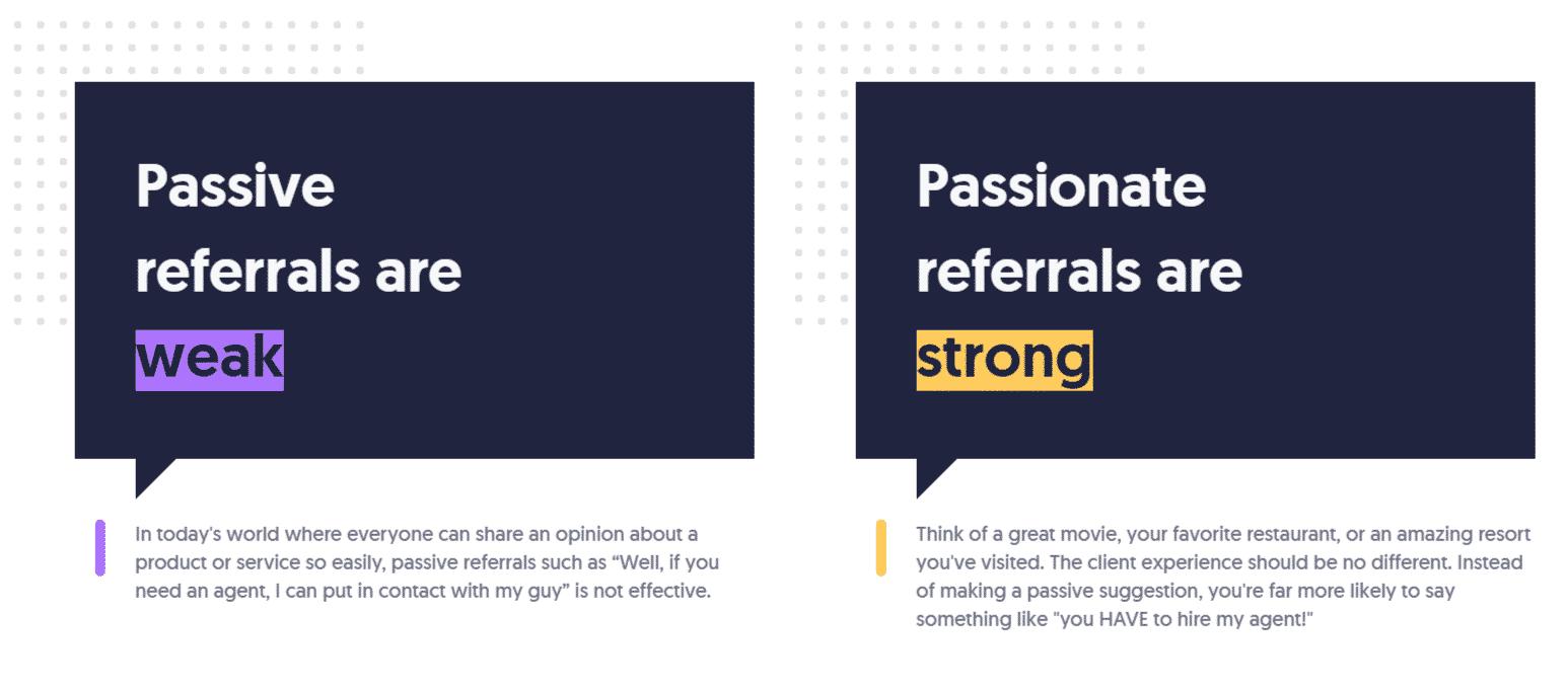 Passive and Passionate referrals