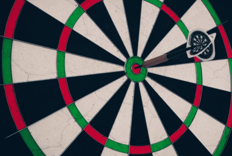 hit a bullseye in dart