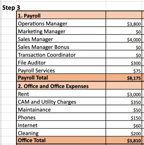 Enter Your Expenses into the Worksheet