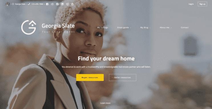Placester website sample - Georgia Slate