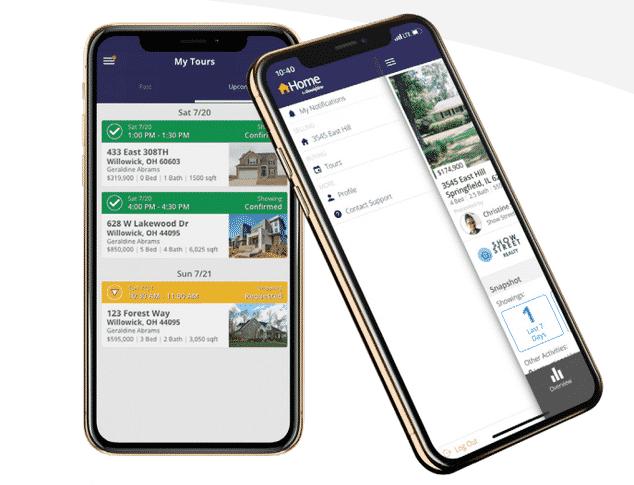 ShowingTime mobile interface