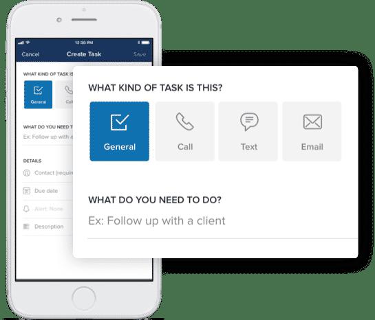 Zillow Premier Agent App Task reminder interface