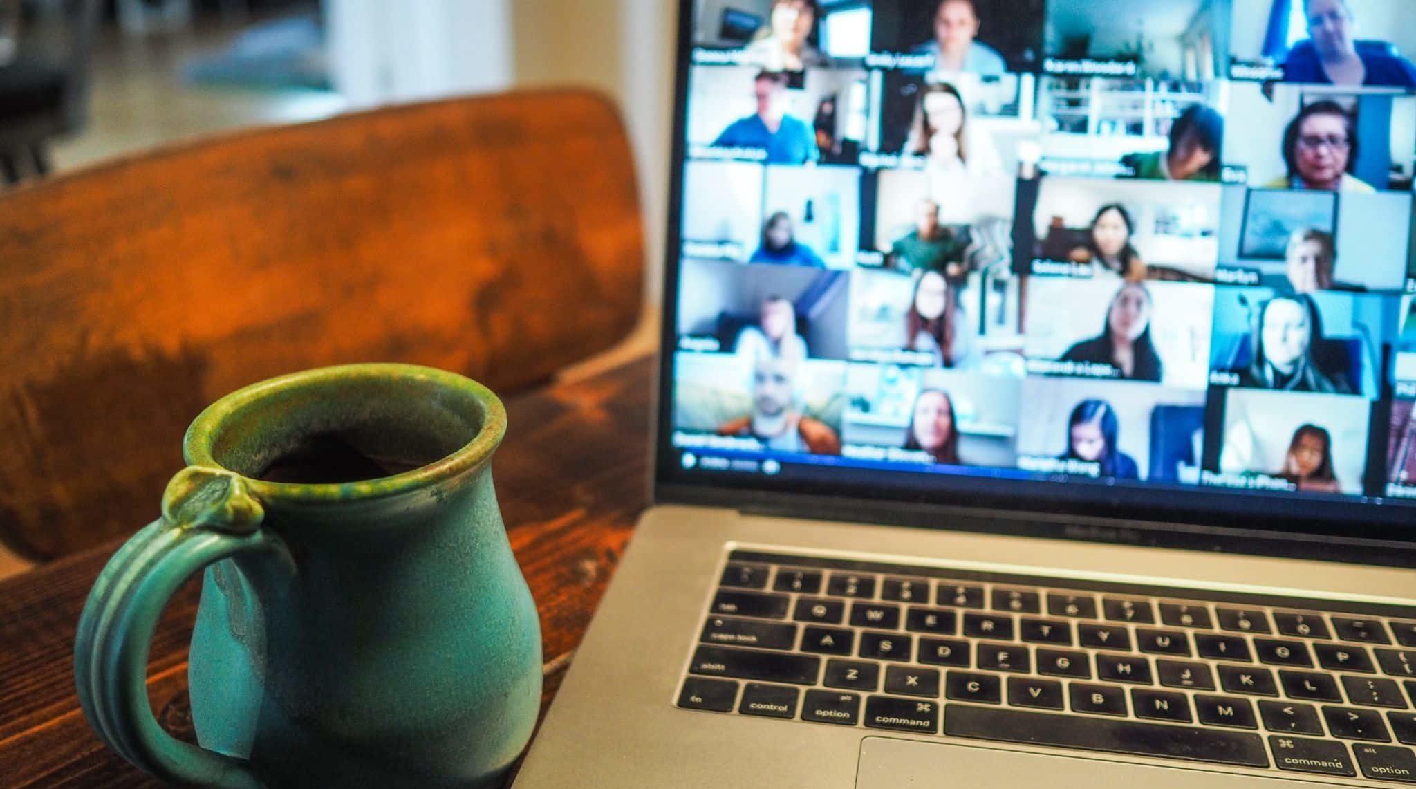 Online team meeting