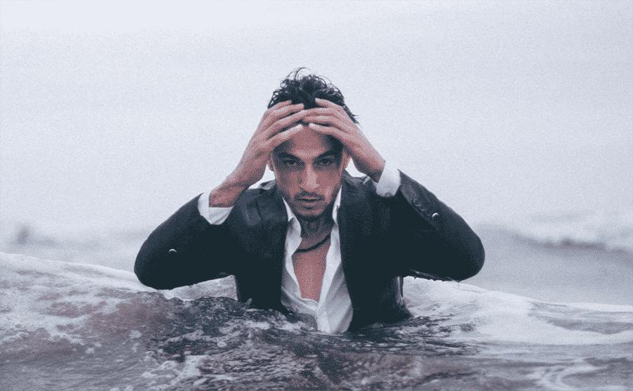 gentleman in water