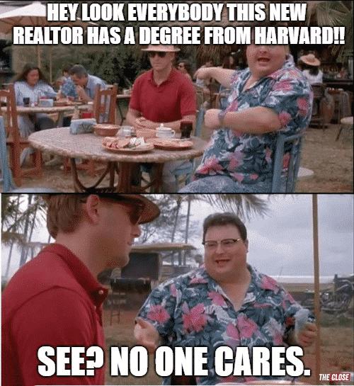 But I went to NYU meme