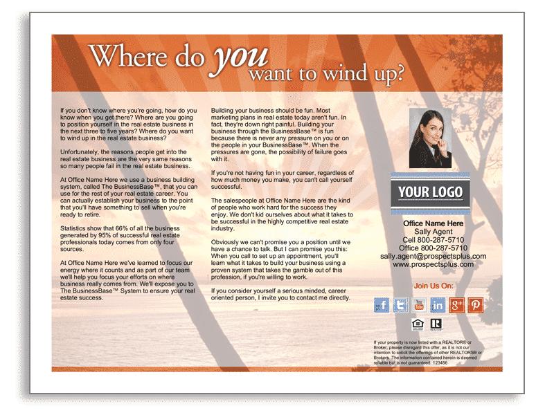 End Agent Recruitment Real Estate Brochure