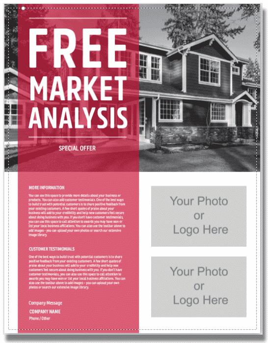 Free Market Analysis Real Estate Flyer Template