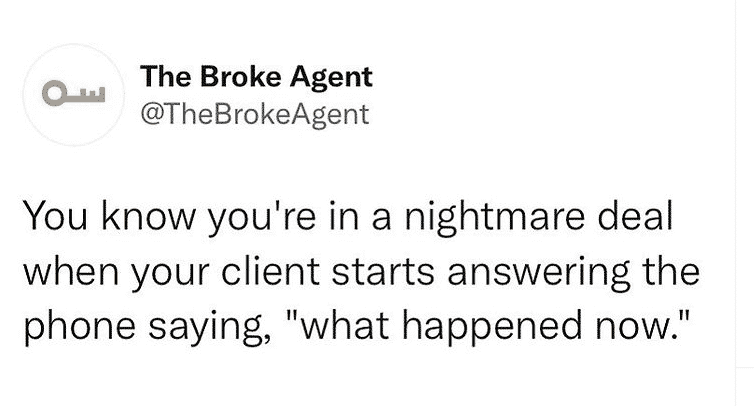 Haha this never happens with my deals meme