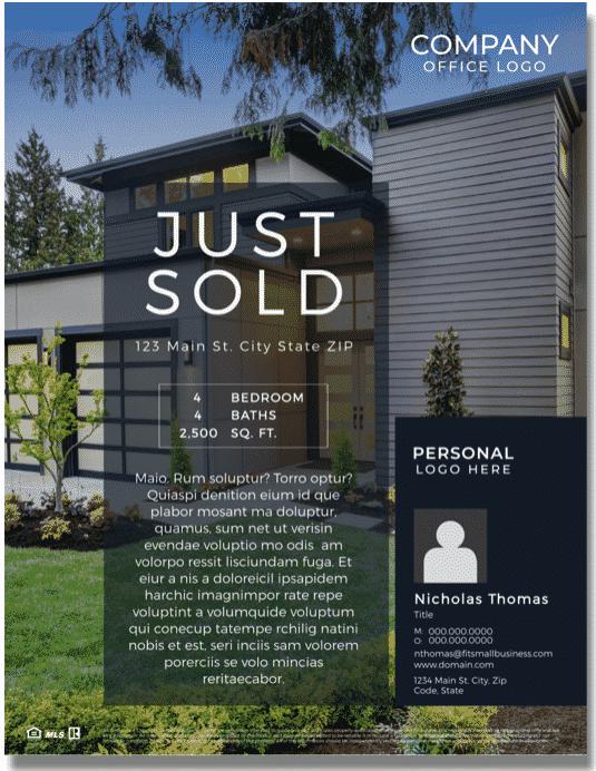 Modern Just Sold Real Estate Flyer Template
