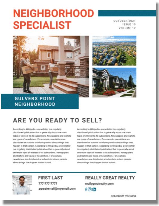 Neighborhood Expert Real Estate Flyer Template