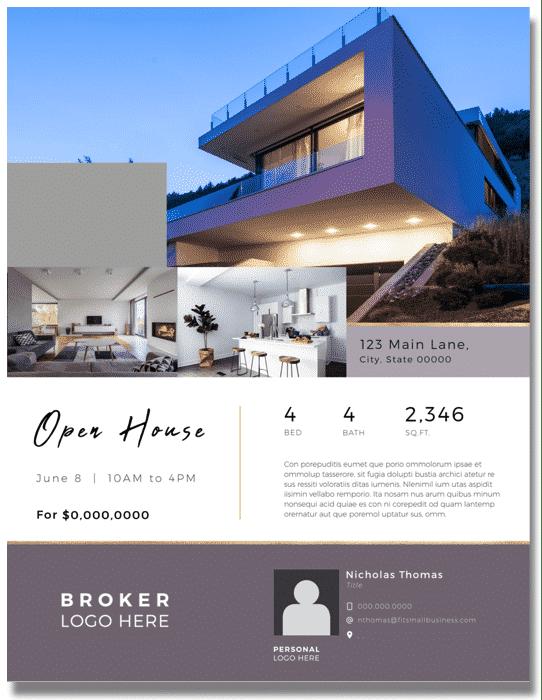 Super-Sleek Open House Real Estate Flyer Template