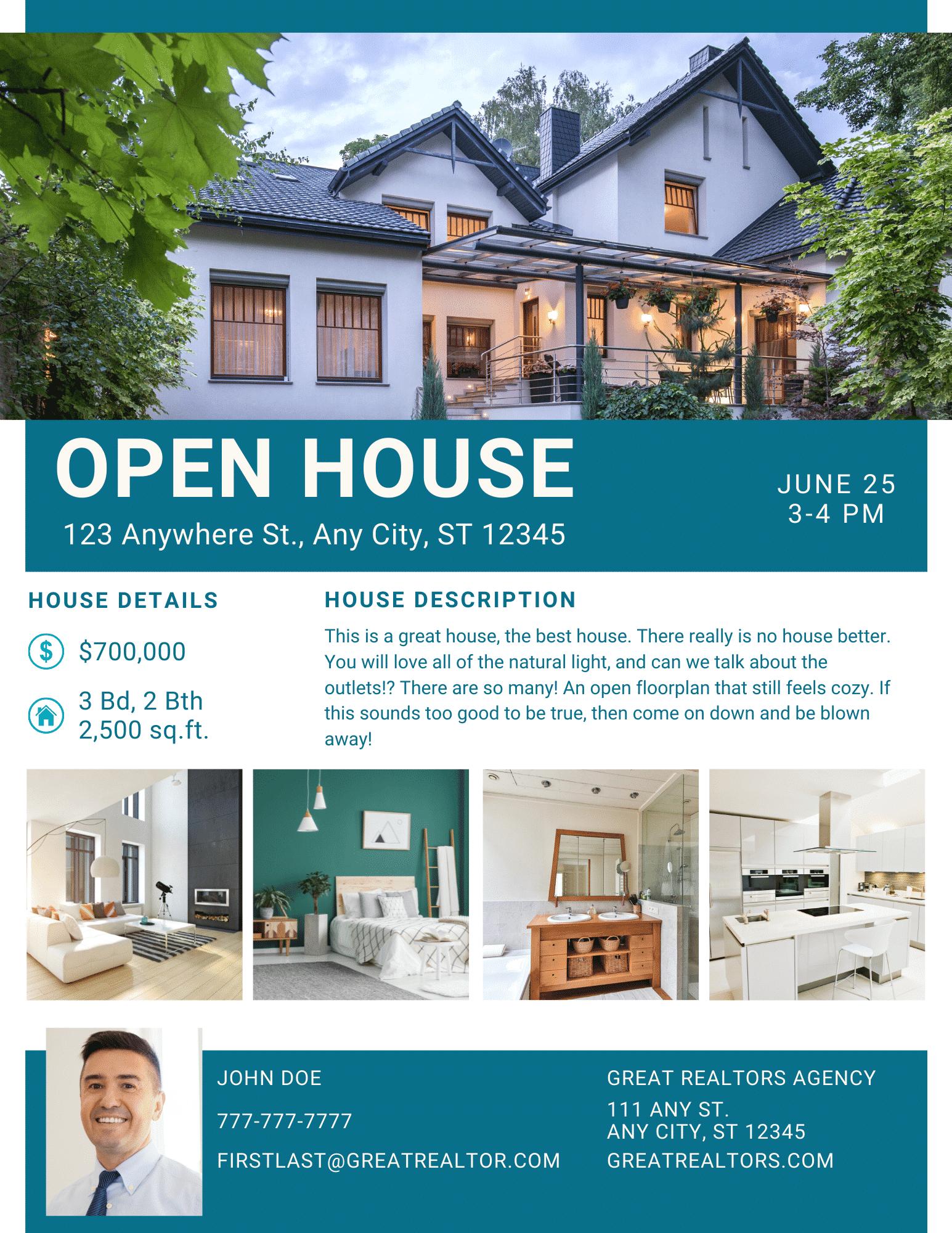 The Close Exclusive Open House Invitation Real Estate Brochure